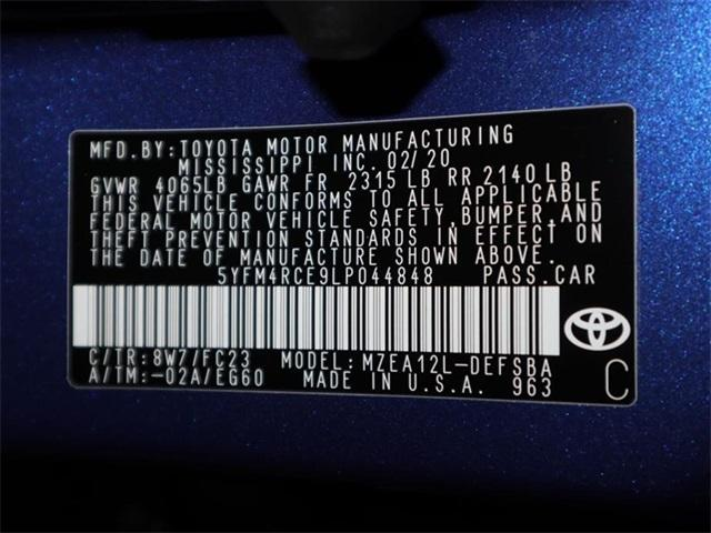 New 2020 Toyota Corolla SE Manual